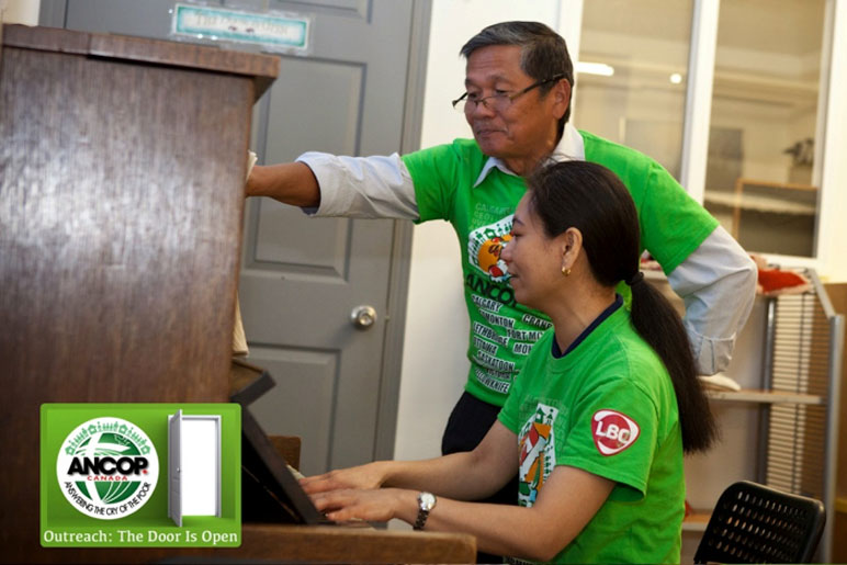 Tony Aytona (long-time supporter of ANCOP and member of ANCOP core team) did a song rendition with Liza Ulanday (member of Handmaids of the Lord ministry) on the piano.