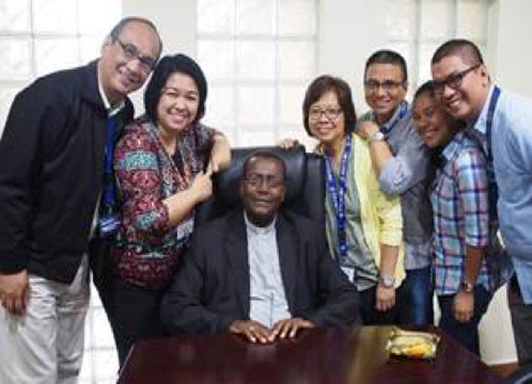 With Bishop Kamau