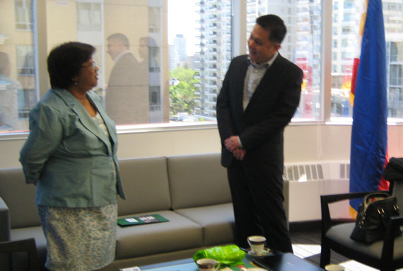 ANCOP president pays courtesy call to new Philippine consul general in Toronto