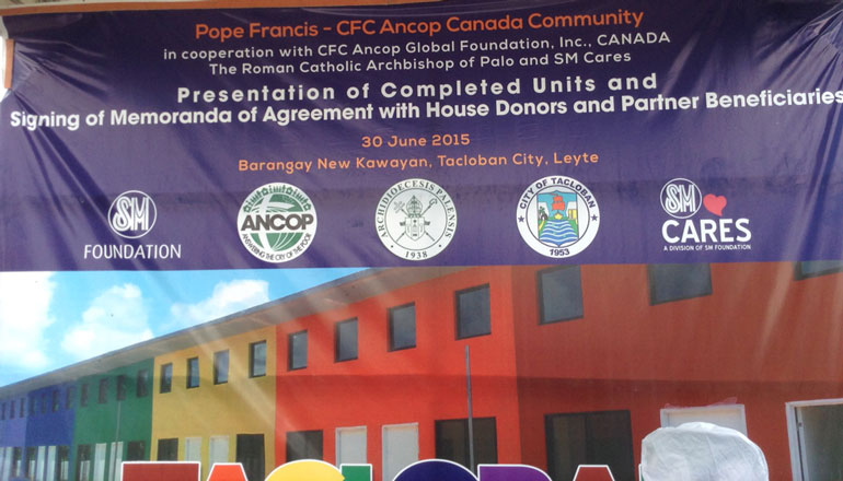 100 family survivors of supertyphoon Haiyan granted ANCOP homes