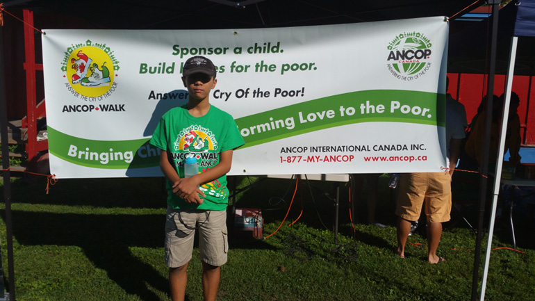 Kid tops ANCOP Walk fundraising in Ottawa