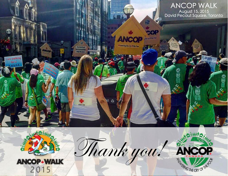 Huge turnout for ANCOP WALK 2015 Toronto!