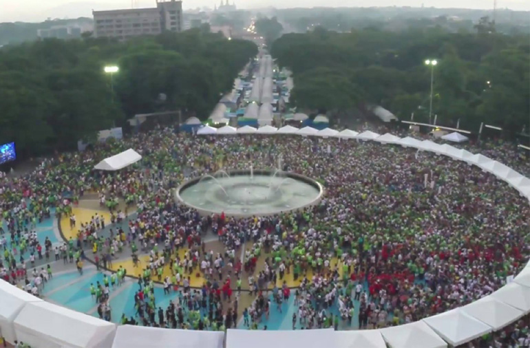 ANCOP Global Walk 2015 gathered over 60,000 Walkers in Metro Manila Philippines and around the world