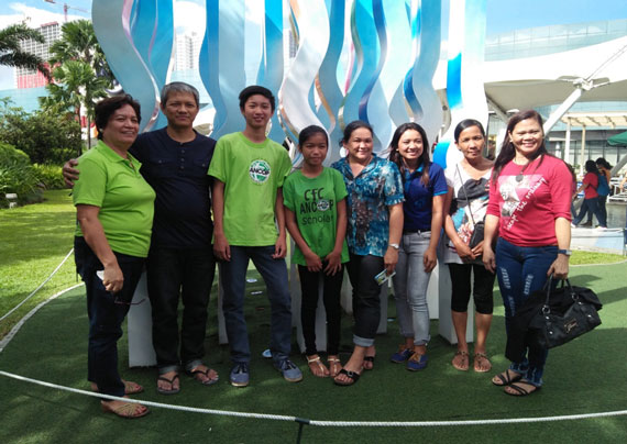 Regina Couple Cris and Rowena Masaoay meet up with ANCOP scholars