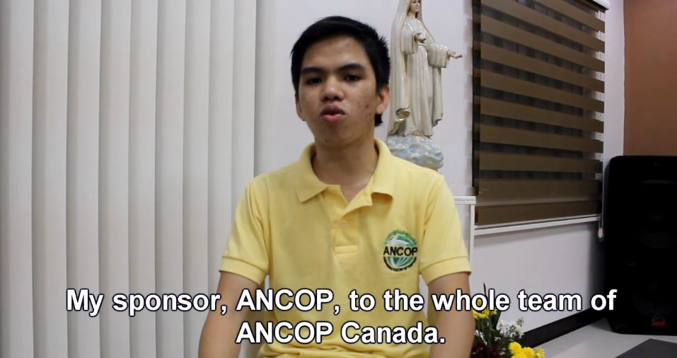 ANCOP Canada Transforms Lives :: Featured Scholar – Jerth Sinel