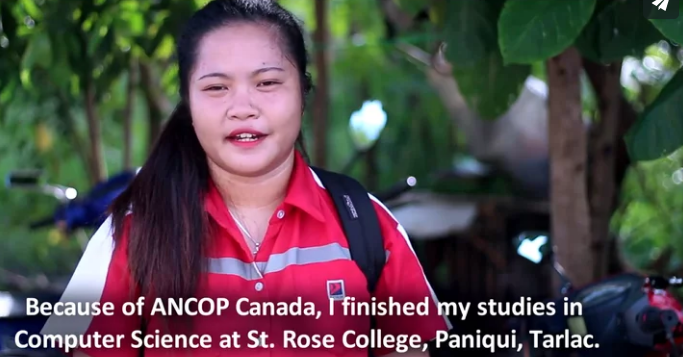 Rebecca Joy Bugarin : ANCOP Canada Scholar – Now a blessing to her family