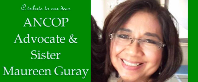 A Special Tribute to an ANCOP Canada Advocate : Maureen Guray