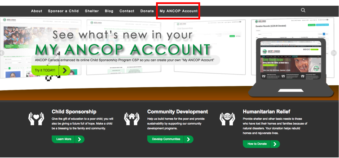 How to Use My ANCOP Account