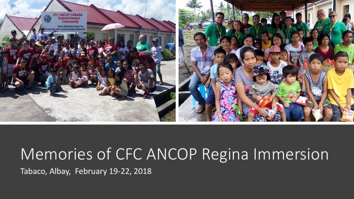 Memories of CFC ANCOP Regina