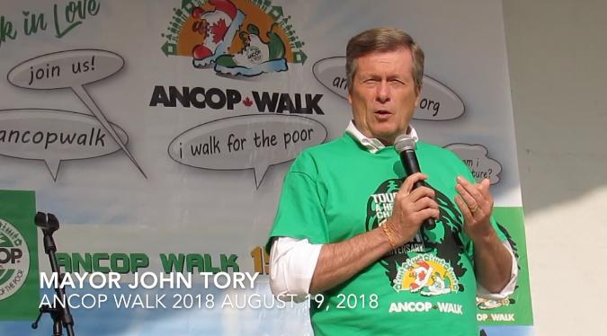 Mayor John Tory at ANCOP Walk