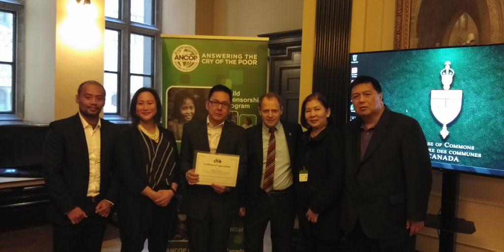 ANCOP Canada and Ricky Cuenca Awarded by House of Commons